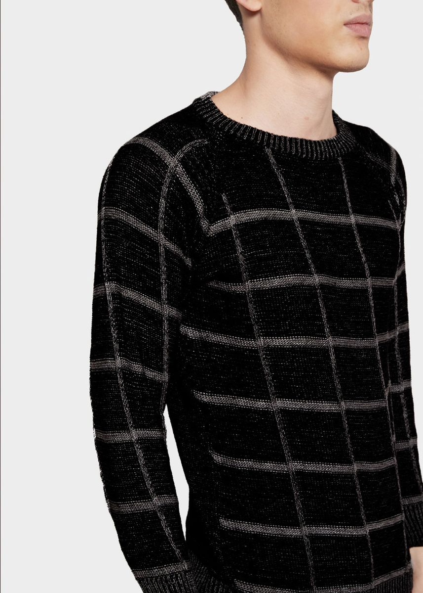 Black color Sweaters . SWEATER RAJUT KNITWEAR CUBE TONE BLACK -