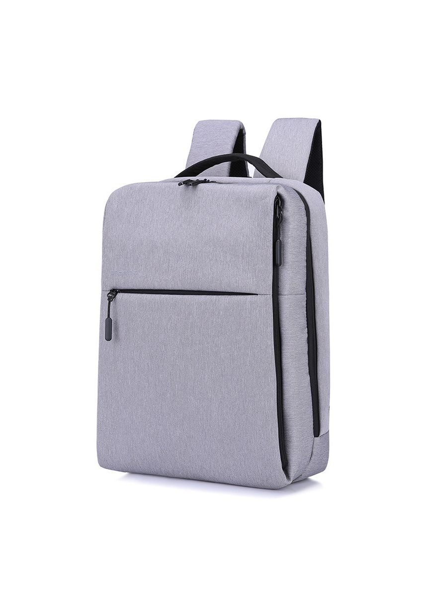 สีเทาอ่อน color เป้สะพายหลัง . Fashion Business Men And Women Multi-function Waterproof Charging Backpack -