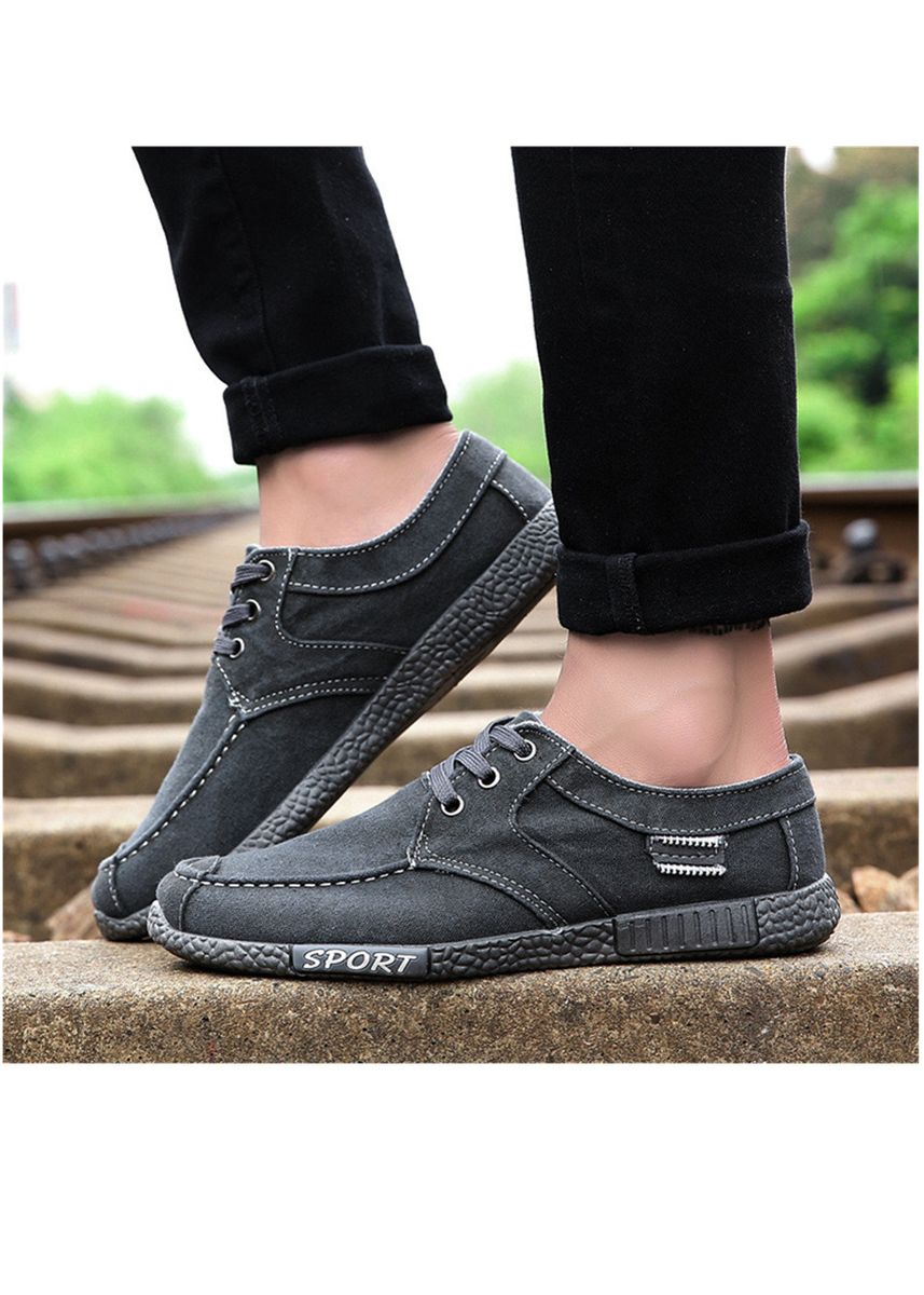 Grey color Casual Shoes . Men's Washed Denim Casual Shoes -
