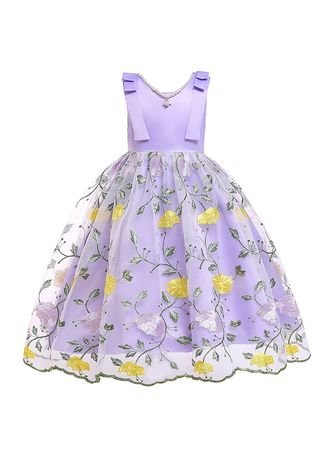 สีม่วง color เดรส . Girls Dress Children's Clothing Skirt Christmas Kids -