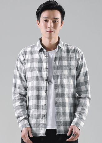 Casual Shirts . Men Casual Checked 100% Cotton Shirts  -