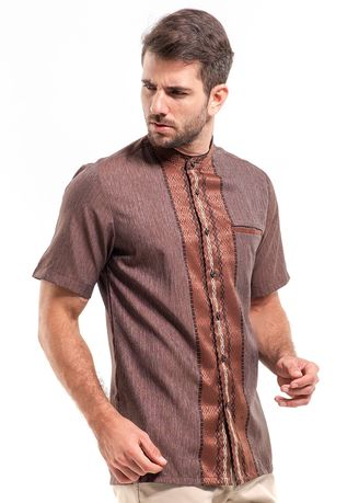 Brown color Casual Shirts . MANLY Kemeja Regular Fit PyrusPD -