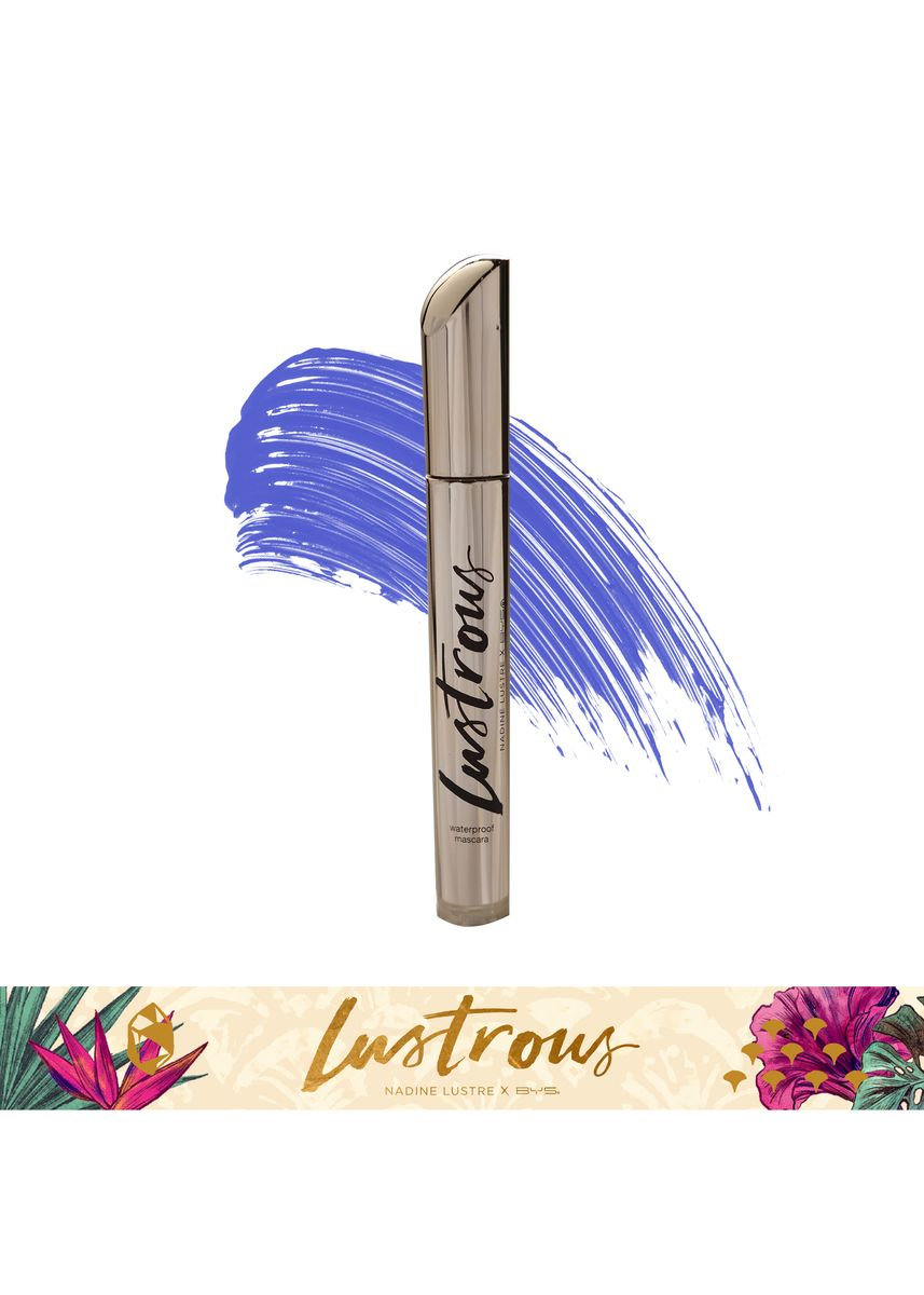 Blue color Eyes . BYS Lustrous Mascara (02 Lazuli) -