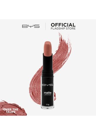 Pink color Lips . BYS Matte Lipstick (Over the Taupe) -