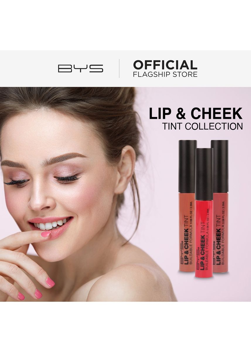 Pink color Lips . BYS Lip and Cheek Tint (Innocent) -