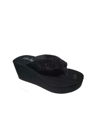 Black color Sandals and Slippers . Sandal Spoon tebal -