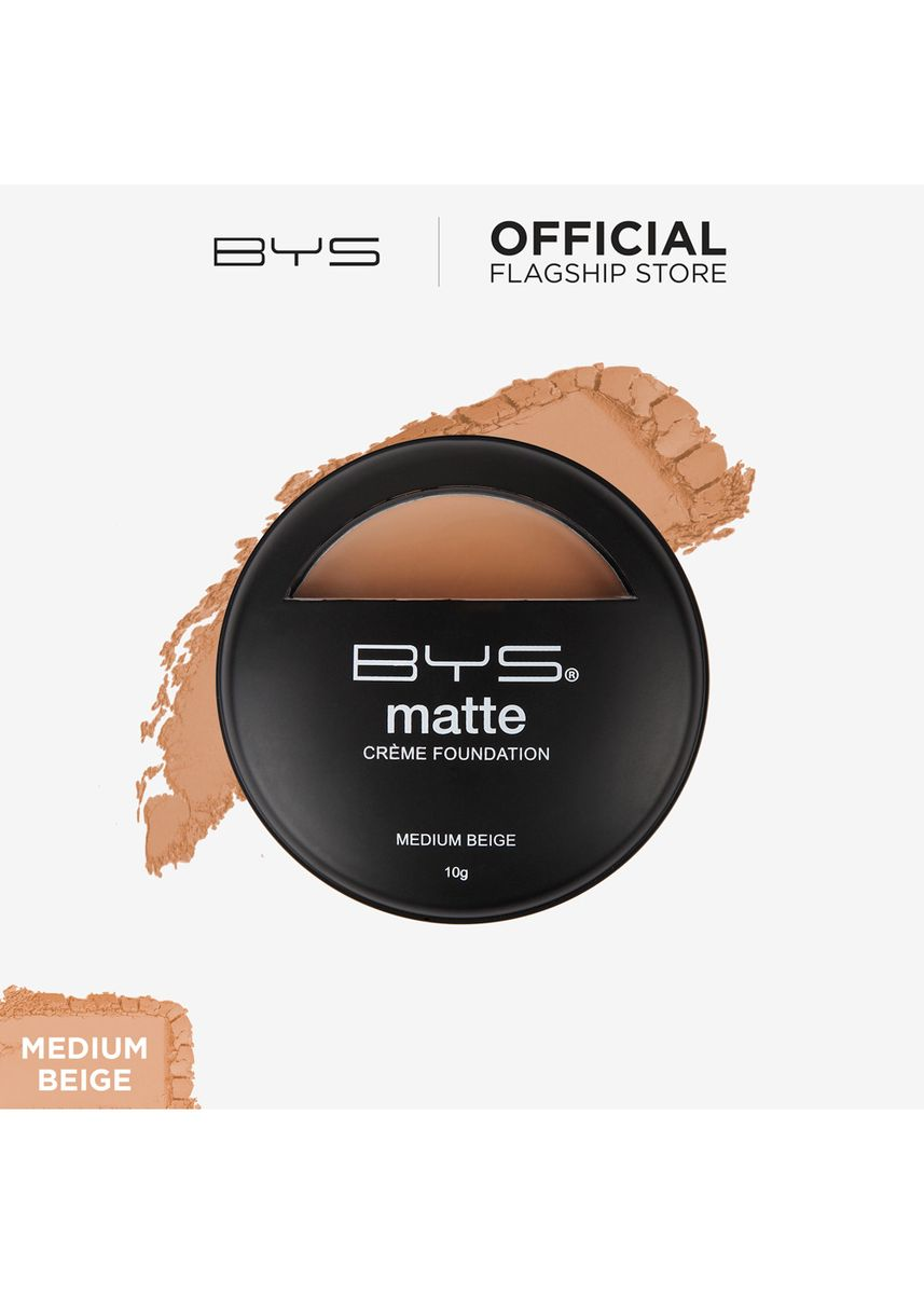 Beige color Face . BYS Matte Crème Foundation (Medium Beige) -