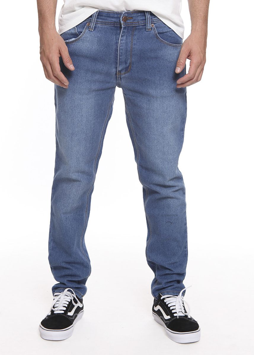 Light Blue color Jeans . 2Nd RED Celana Jeans Comfort Slim Fit Spray 133264 -