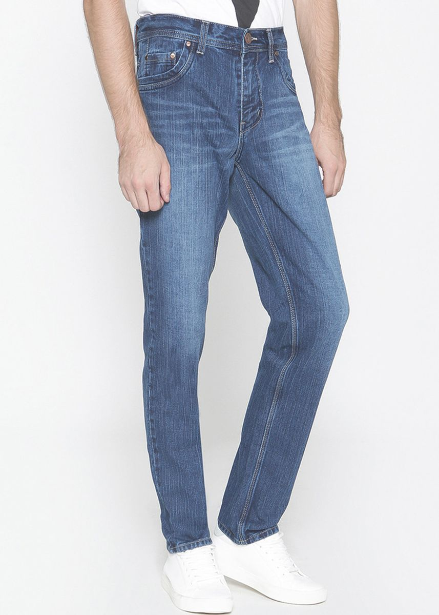 Blue color Jeans . 2Nd RED Jeans Pria FS Relax Jeans Pemium Biru 121812 -