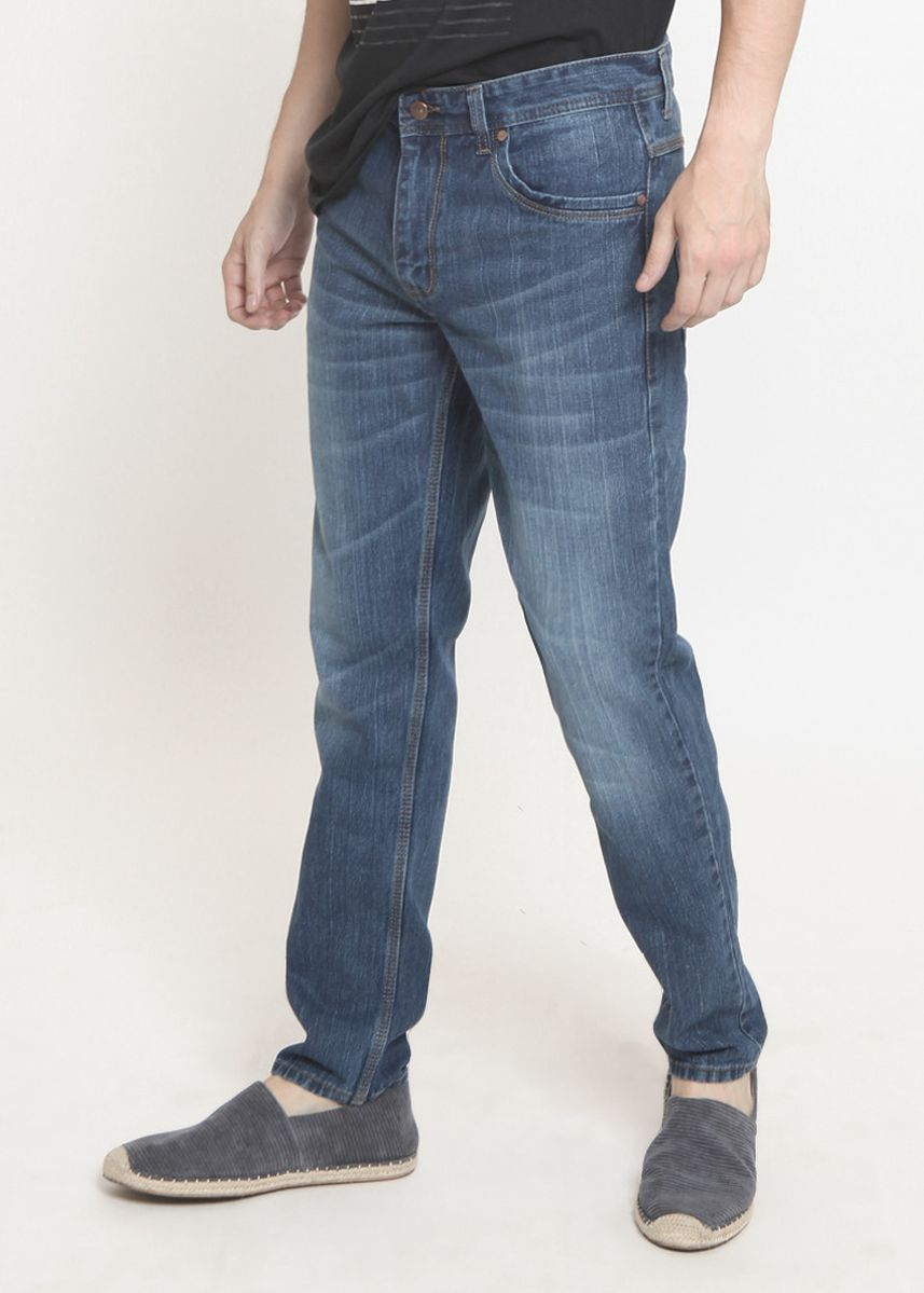 Blue color Jeans . 2Nd RED Jeans Pria FS Relax Jeans Premium Blue Grey 121813 -
