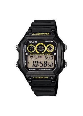 Black color Digital . Casio Men's Digital Watch -