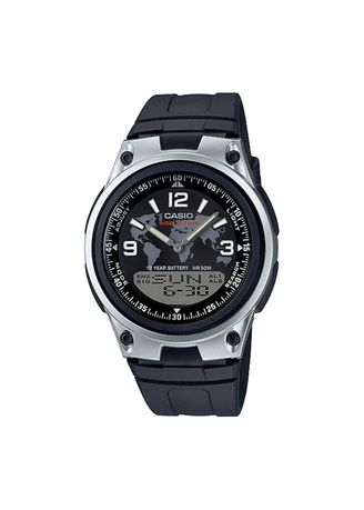 Black color Digital . Casio Dual Display Men's Digital Watch -