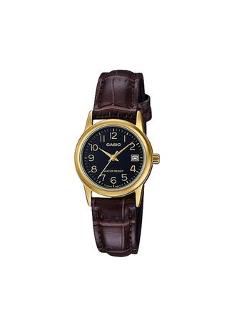 Brown color Analog . Casio Quartz Women's Leather Analog Watch -