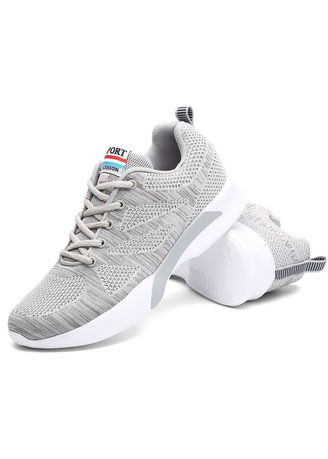 Sports Shoes . Men Lightweight Athletic Running Shoes Casual Breathable Knit Mesh Outdoor Sports -