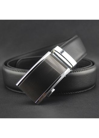 Black color Belts . Automatic Buckle Men's Personality Leather Belt With Men -