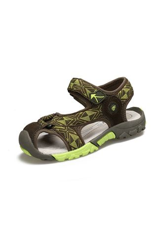 Green color Footwear . Summer Boy Beach Sandals Kids Sandals Kids Leather Summer -