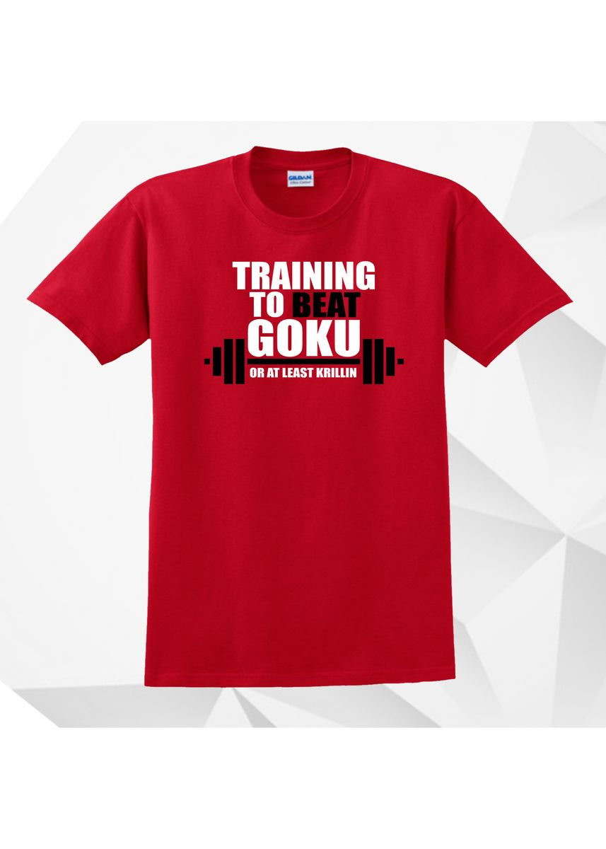 Red color  . AC Prints Spoofs Shirt Training to Beat Goku -