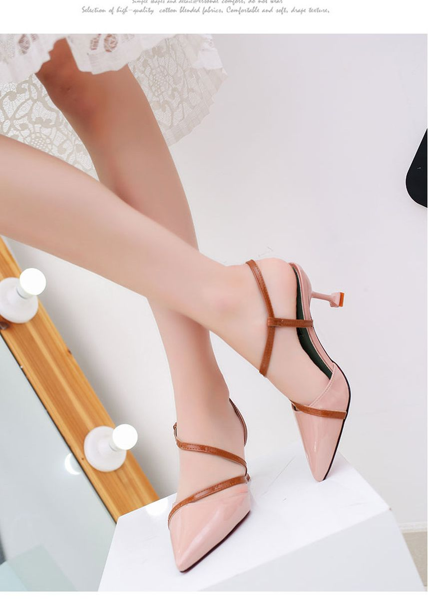 Pink color Heels . Women's Heel Pointed Toe Pump Shoes -