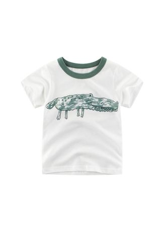 ขาว color เสื้อ . Children's short-sleeved T-shirt baby clothes -