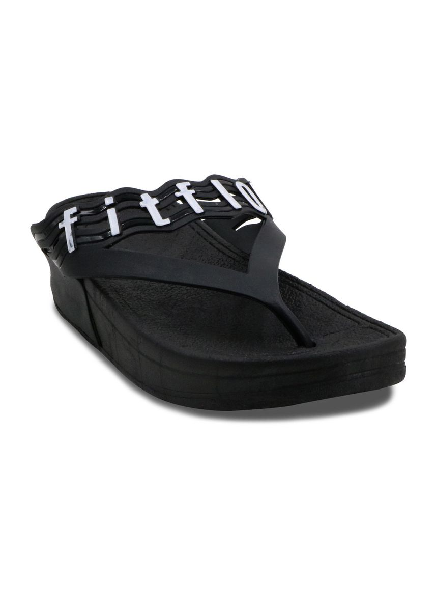 Black color Sandals and Slippers . Khoee Women's Slides Flat Slippers Sandals -