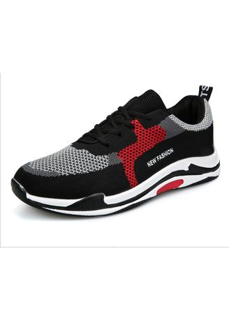 Black color Casual Shoes . Trendy sneakers men's youth lace-up casual shoes -