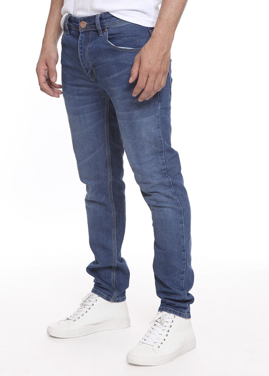 Blue color Jeans . 2Nd RED Jeans Pria Slim Fit Millenial Stretch  -