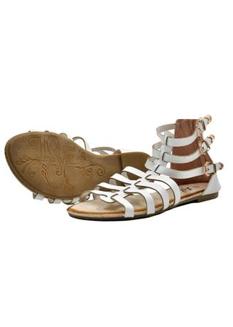 White color Sandals and Slippers . Khoee White Strappy Women's Flat Sandals -