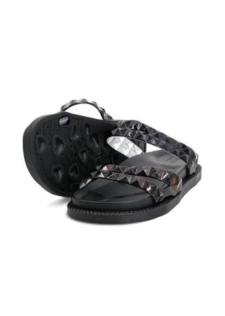 Black color Sandals and Slippers . Khoee Cheryl Women's Slides Flat Slippers Sandals -