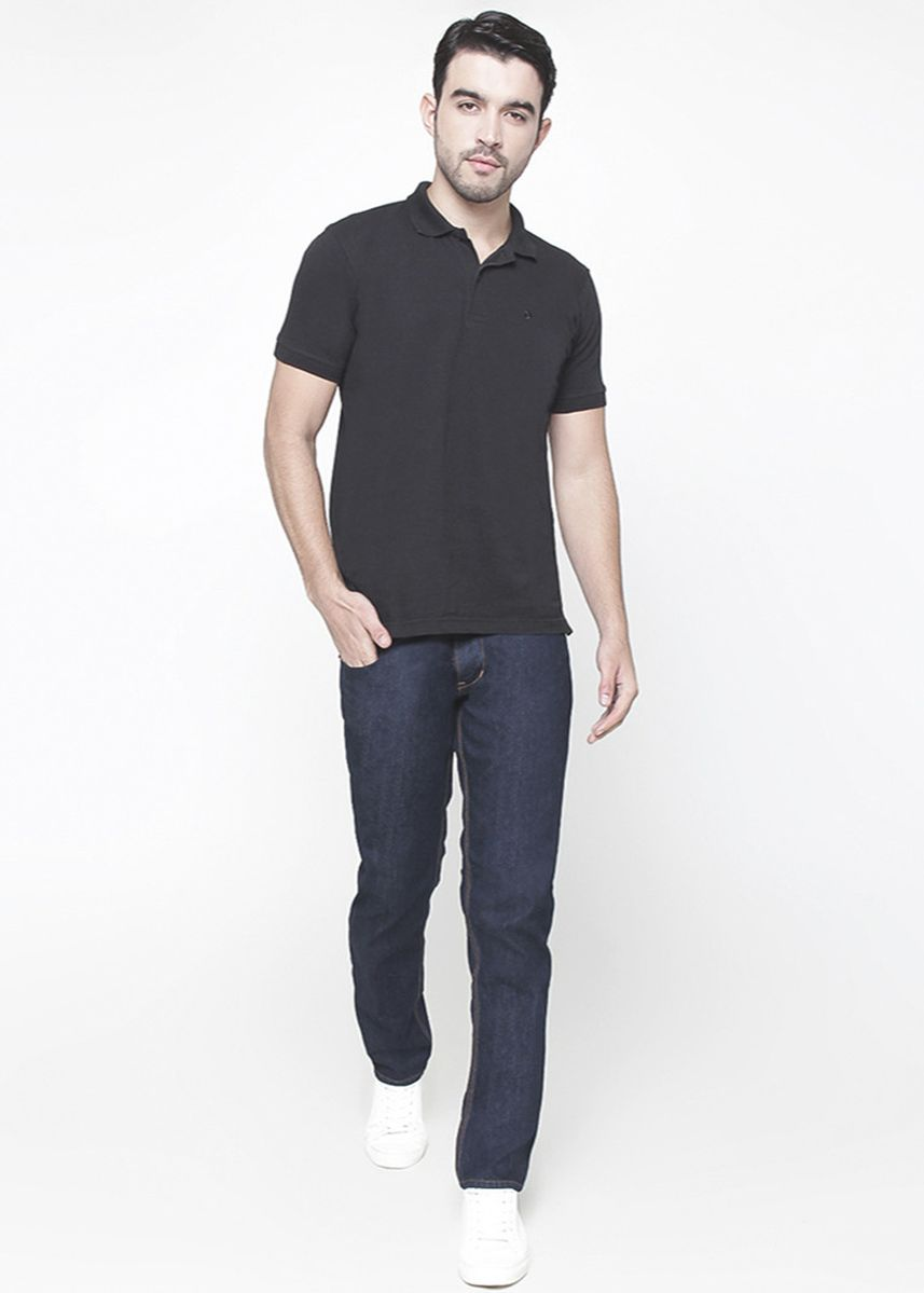 Black color Jeans . 2Nd RED Jeans Pria Premium Relax Jeans FS15 -