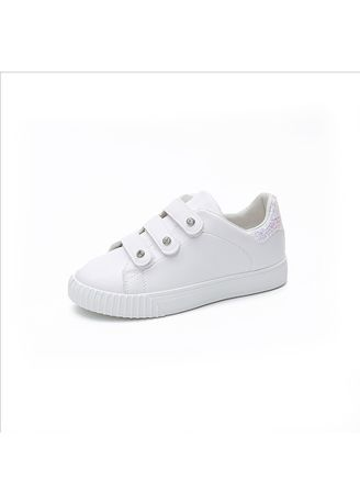 White color Casual Shoes . Flat casual shoes women's wild sports shoes -
