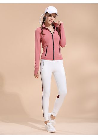 Pink color Sports Wear . Breathable Quick-Drying Yoga Suit Jacket -