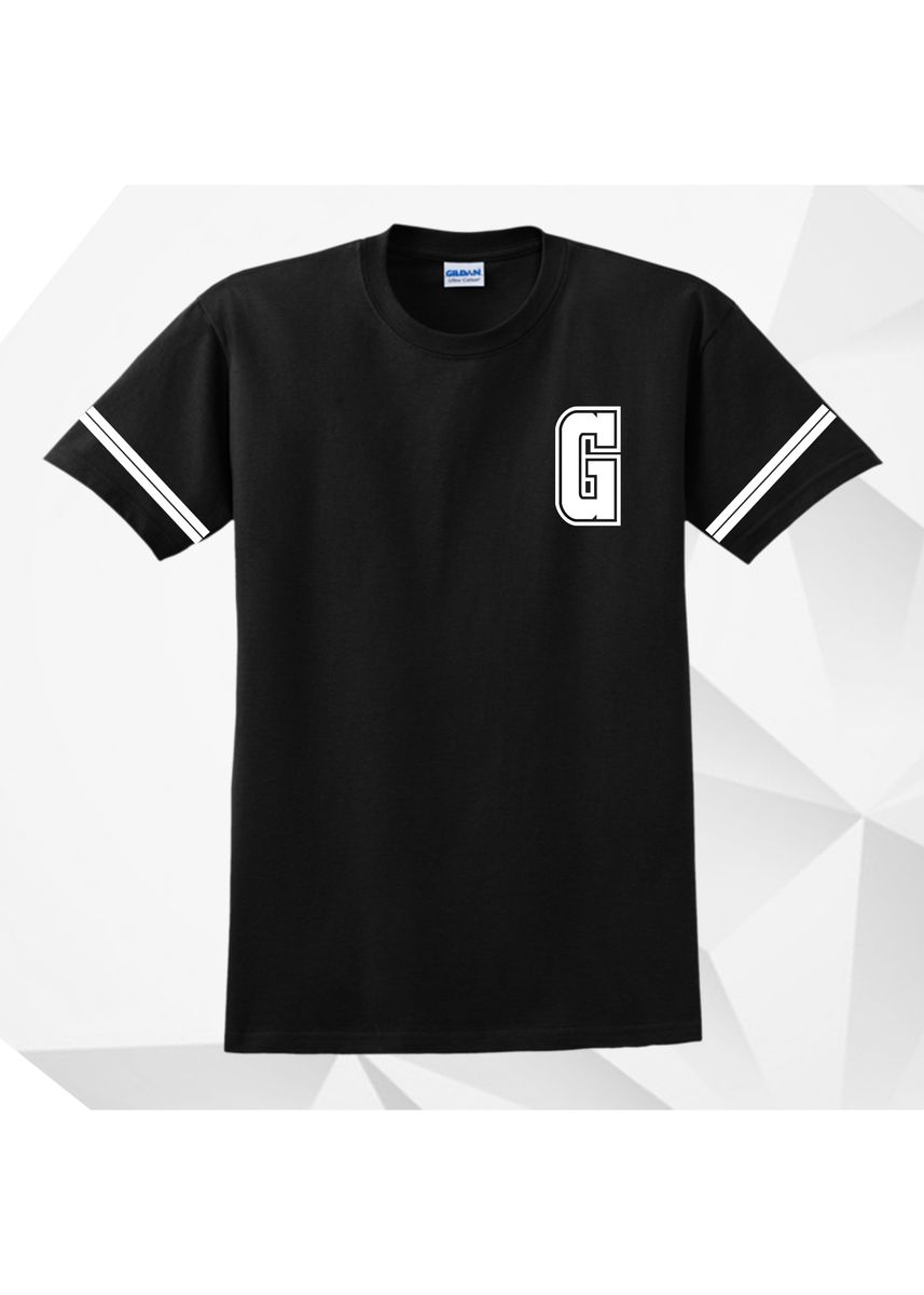 Black color  . AC Prints Initial Tees Letter G -