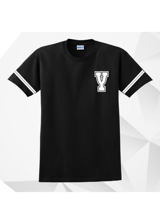 Black color  . AC Prints Initial Tees Letter Y -