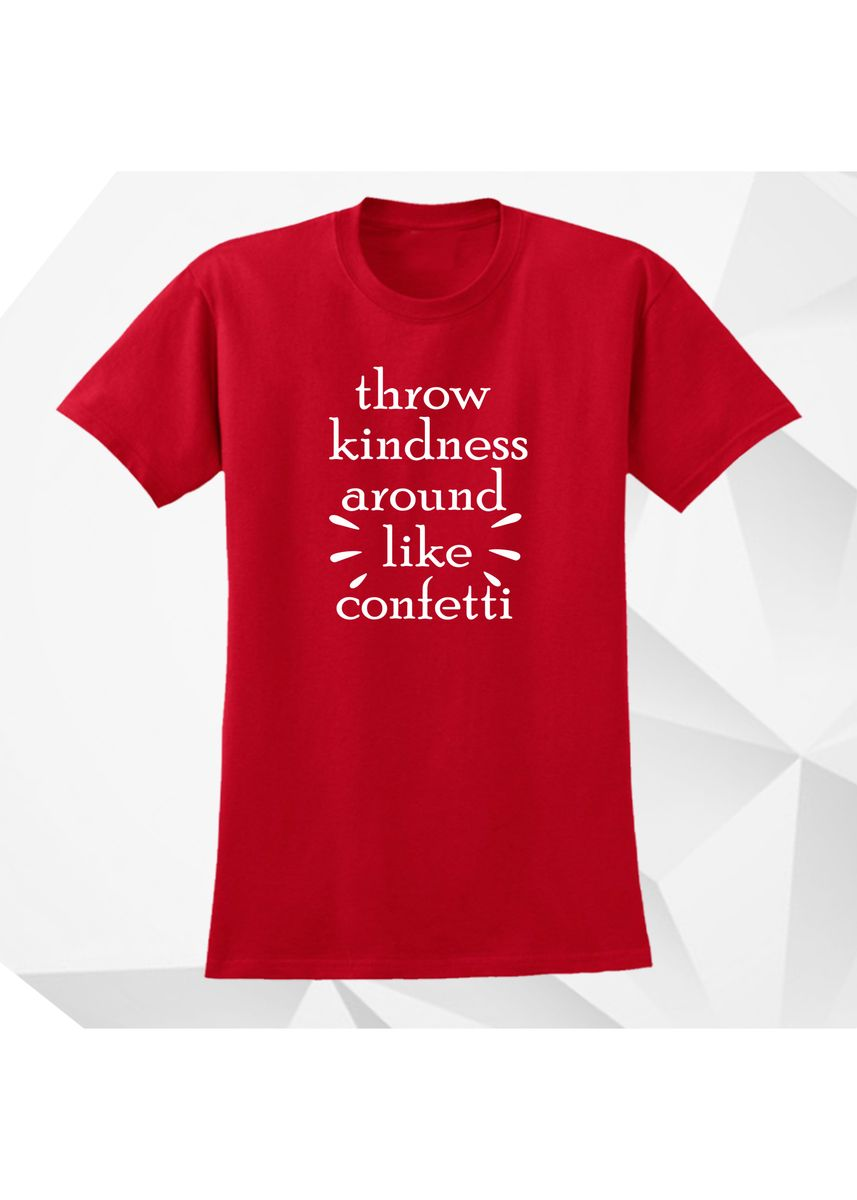 Red color Tees & Shirts . AC Prints Spoofs Shirt For Women KINDNESS -