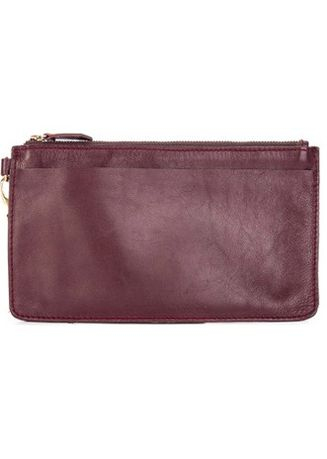 Maroon color Wallets and Clutches . Julianne Candice Wristlet -