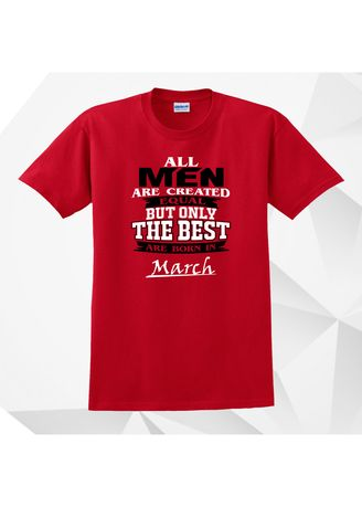 Red color  . AC Prints Monthly Shirt All Men Are Equal MARCH -