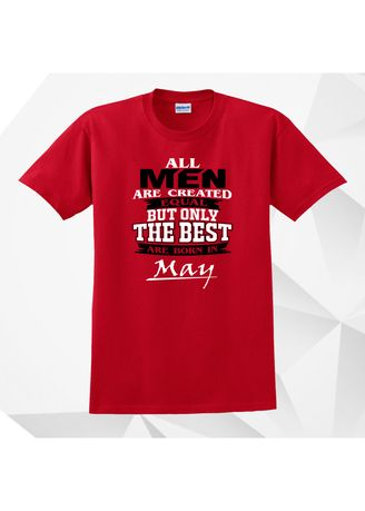 Red color  . AC Prints Monthly Shirt All Men Are Equal MAY -