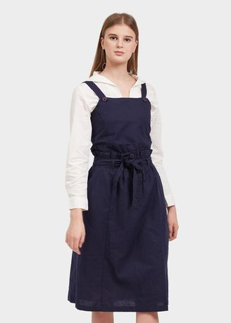Biru Dongker color Terusan/Dress . Morphidae-Vidette Woman Dress Warna Navy -