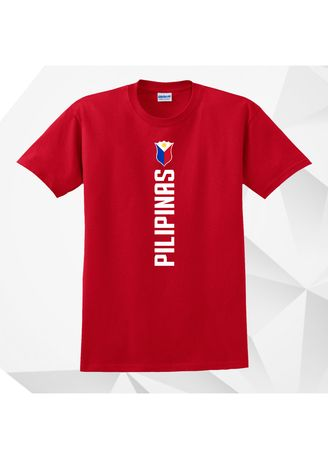 Red color  . AC Prints Gilas Pilipinas T-shirt -