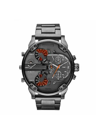 Multi color Chronographs . Men's Watch Individuality Large dial Trendy Watch Stainless Steel with Quartz Watch -