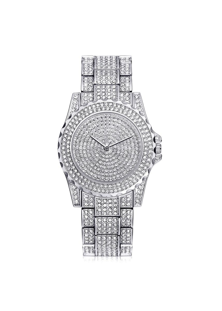 Silver color Chronographs . New hot-selling watches high-end ladies'chains full of drills high-quality ladies' watches send exquisite watch boxes -
