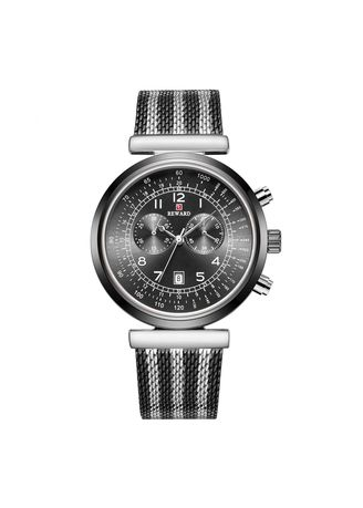 Silver color Chronographs . New Men's Watches Recreational Fashion Sports Trend Waterproof Decorative Small Eye Watch -