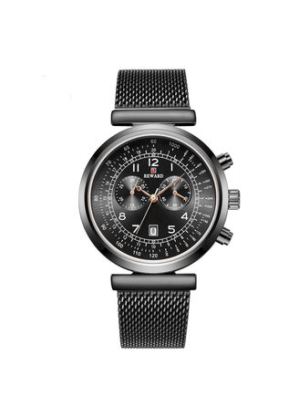 Black color Chronographs . New Men's Watches Recreational Fashion Sports Trend Waterproof Decorative Small Eye Watch -