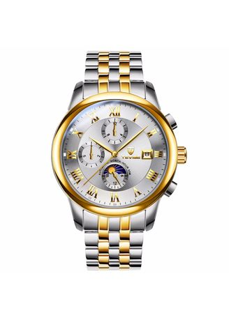 Multi color Chronographs .  Multifunctional Men's Mechanical Watch Automatic Waterproof Calendar Leisure Men's Watch -
