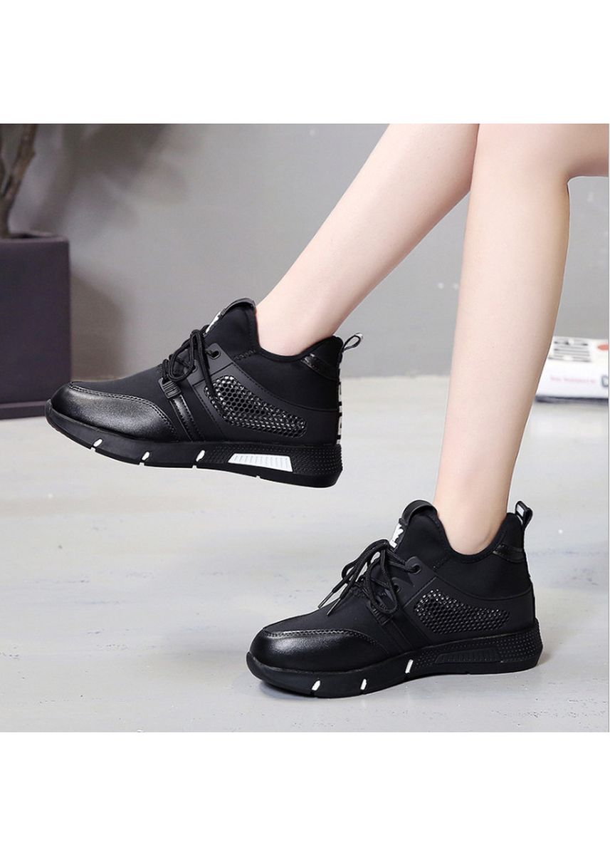 White color Casual Shoes . Lace-Up Sports Shoes Women's Breathable Mesh Single Shoes -