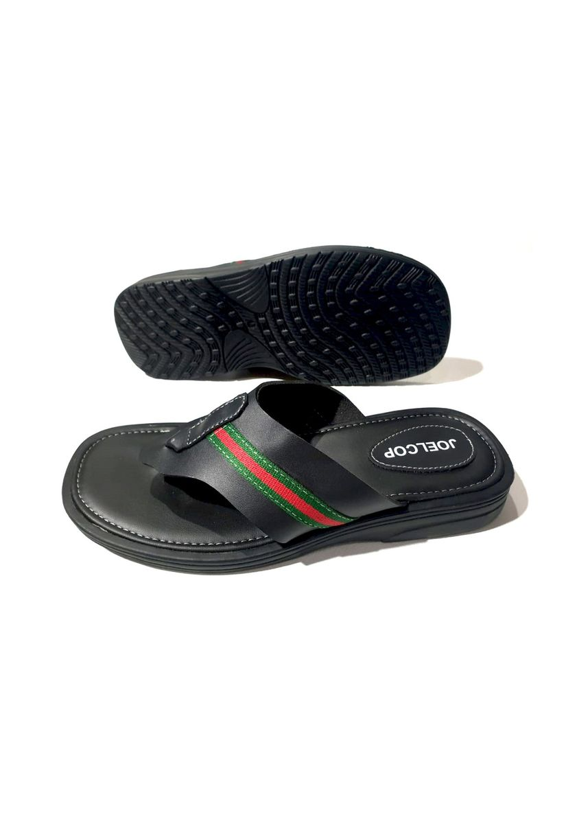 Black color Sandals and Slippers . Sandal pria sandal casual SKT003-hitam -