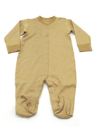 Brown color Onesies . Baby Piper Long Sleeve Romper with Socks -