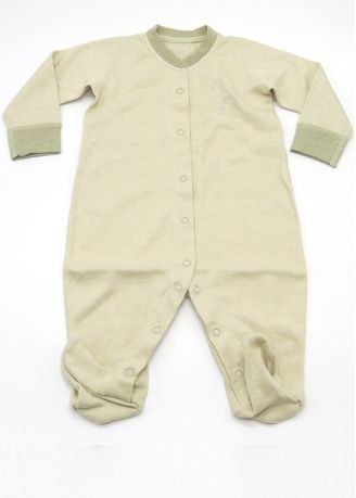 Green color Onesies . Baby Piper Long Sleeve Romper with Socks -