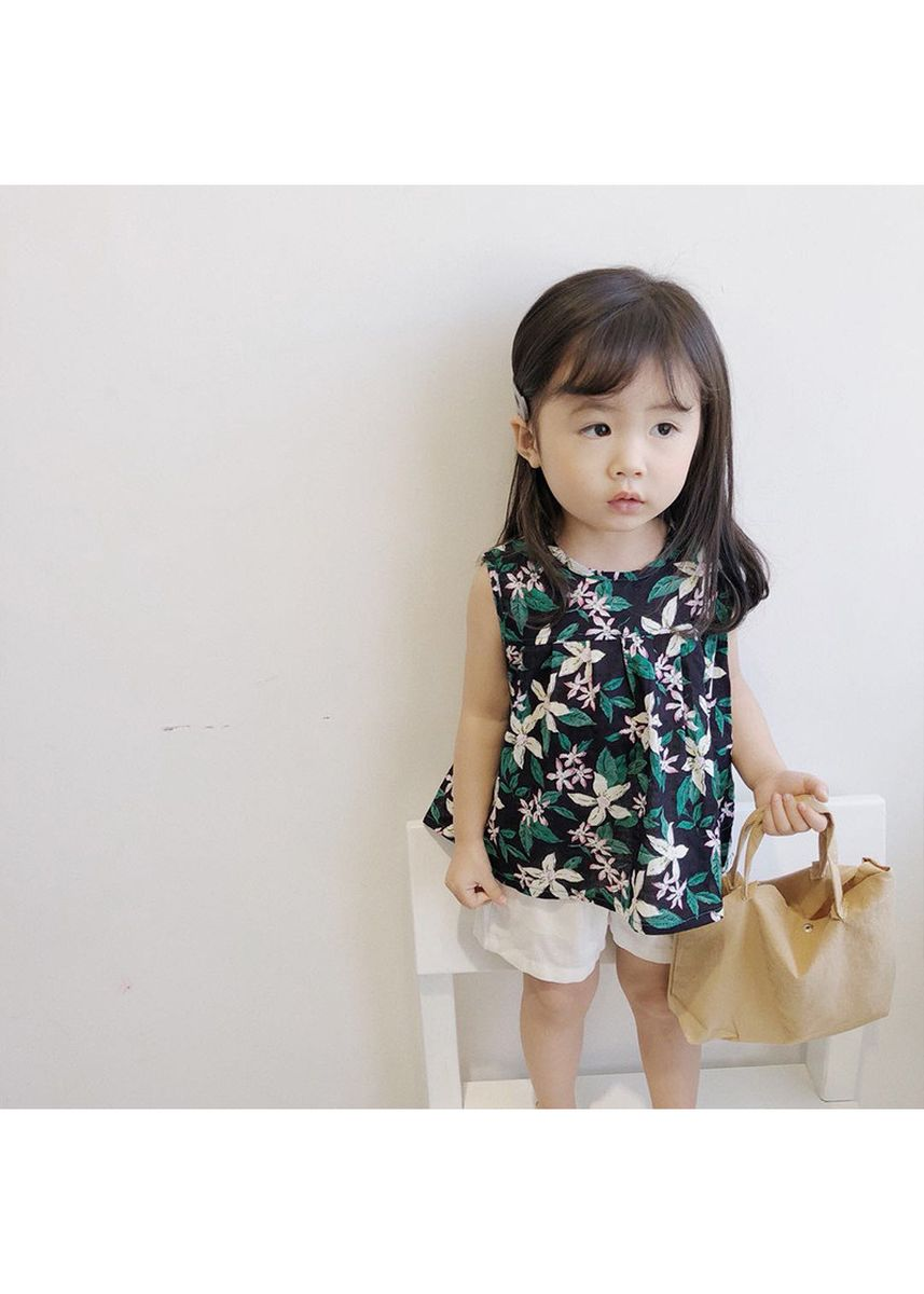 Multi color Tops . Cotton Sleeveless Top Baby Lightweight Breathable Vest T-Shirt -