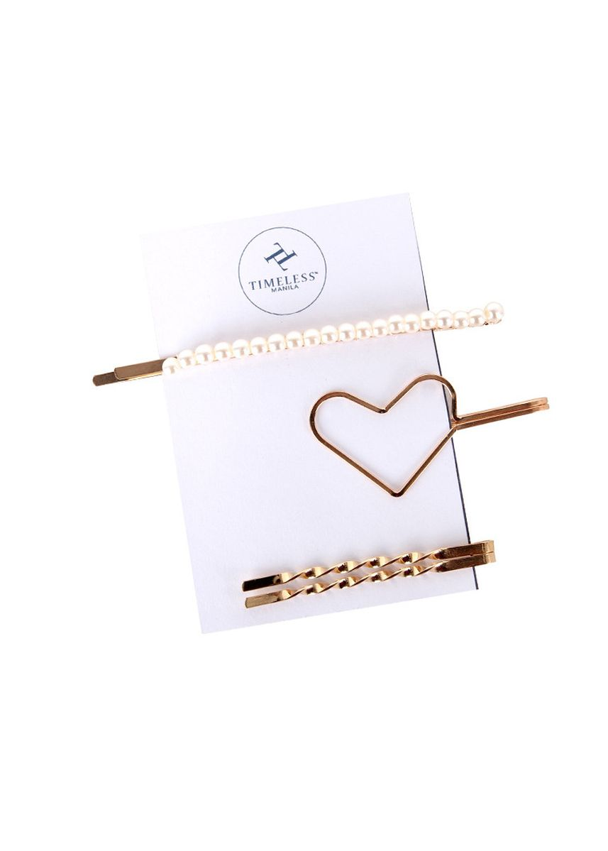 White color Hair Accessories . Timeless Manila Kendra Heart-Shaped Pearl Hair Pin -